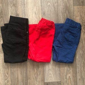 H&M BOYS 3-4Y Lot of 3 Snap Button Pants